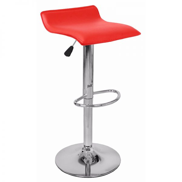 Baconey Adjustable Padded Breakfast Bar Stool - Red