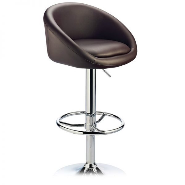 Lombardy Adjustable Kitchen Bar Stool Chrome - Brown