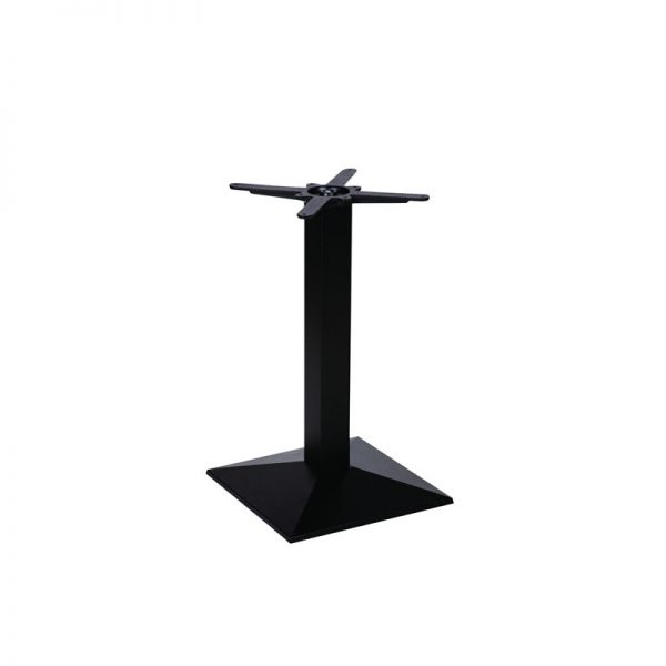 Quinn Square Cast Iron Tall Bar Fixed Floor Commercial Table Base