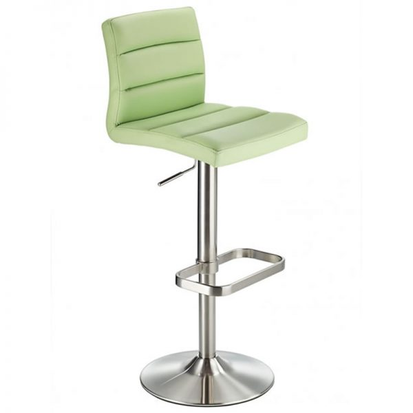 Swank Adjustable Padded Fabric Kitchen Bar Stool - Green