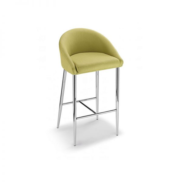 Cayfon Padded Fabric Kitchen Bar Stool - Green