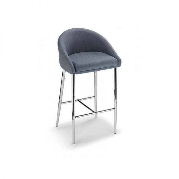 Cayfon Padded Fabric Kitchen Bar Stool - Grey