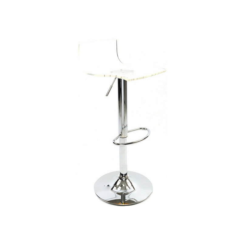 Wye Transparent Acrylic Adjustable Breakfast Bar Stool - Clear
