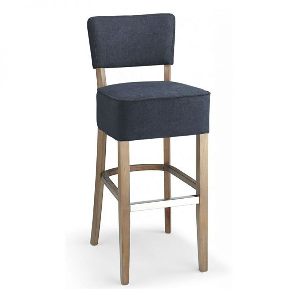 Gosost Fabric and Wood Kitchen Bar Stool - Navy