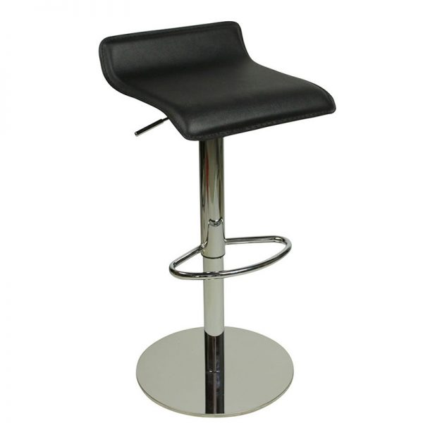 Baconey Deluxe Weighted Adjustable Padded Breakfast Bar Stool - Black