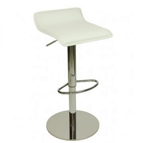 Baconey Deluxe Weighted Adjustable Padded Breakfast Bar Stool - White