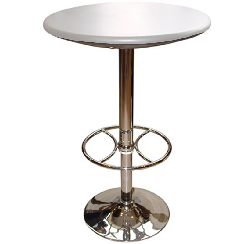 Carboni Tall Adjustable Poseur Table - White