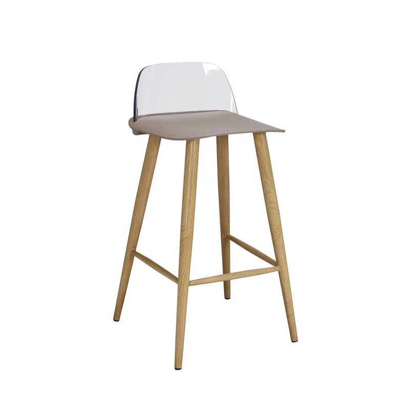 2 x Wallasey Fixed Height Breakfast Bar Stool - Stone
