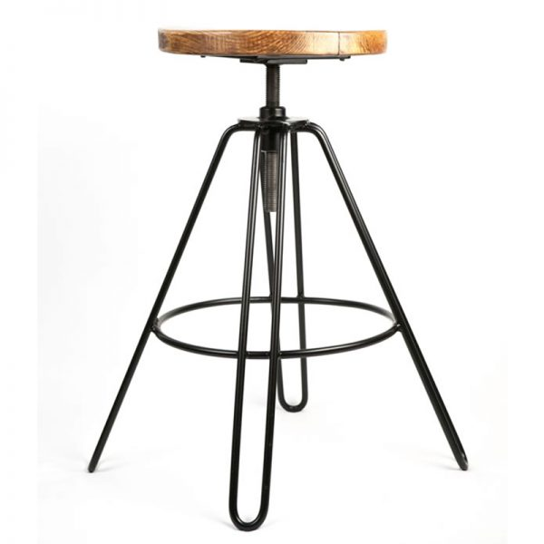 Haron Industrial Adjustable Bar Stool