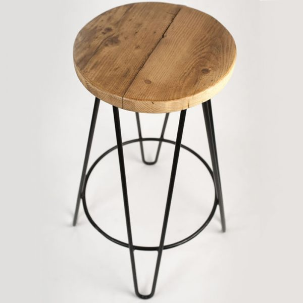 Haron Industrial Fixed Height Bar Stool