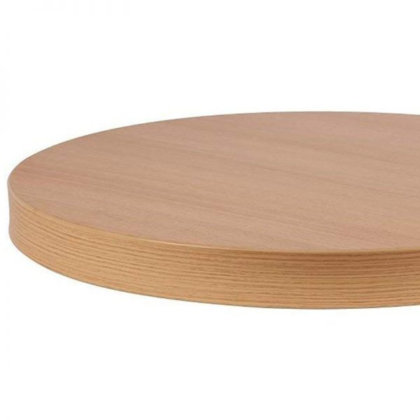 Ilkay Commercial Thick 48mm Round Table Top - Oak - 800x800mm