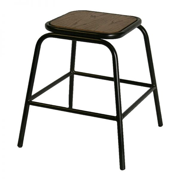 2 x Kalerio Industrial Fixed Height Bar Stools