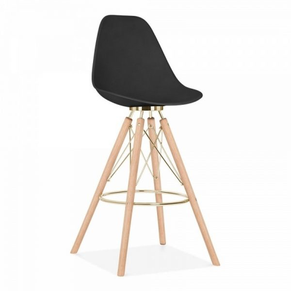 Tidal Fixed Height Bar Stool CD3 - Black