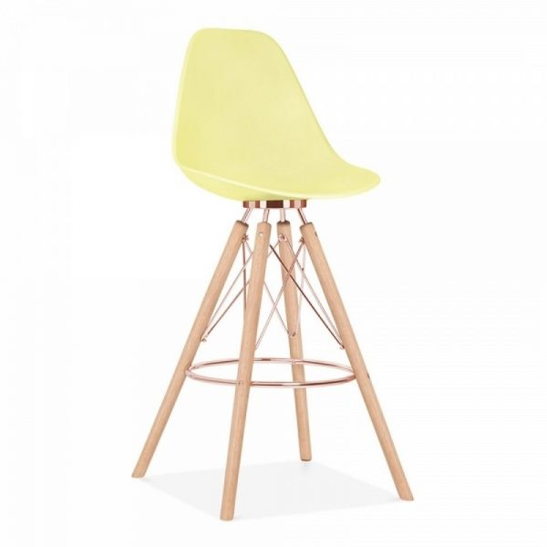 Tidal Fixed Height Bar Stool CD3 - Lemon