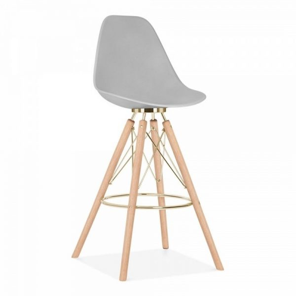 Tidal Fixed Height Bar Stool CD3 - Light Grey