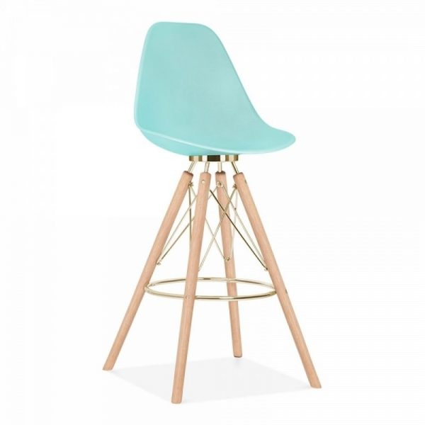 Tidal Fixed Height Bar Stool CD3 - Pastel Blue