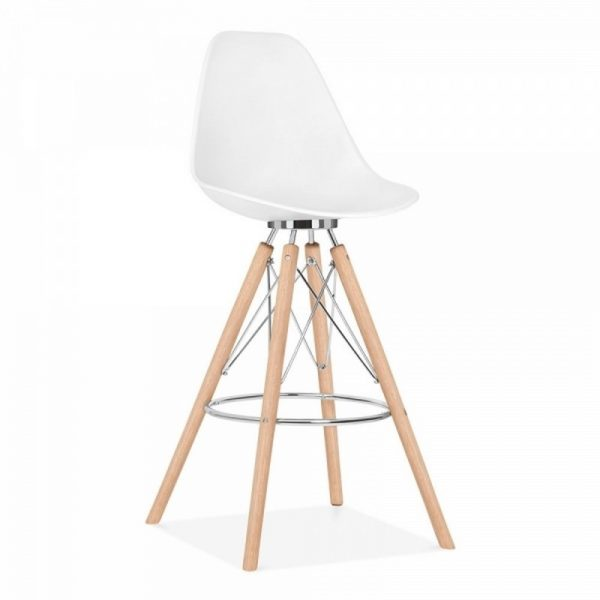 Tidal Fixed Height Bar Stool CD3 - White