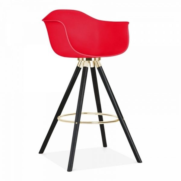 Tidal Bar Chair With Armrest CD2 - Red