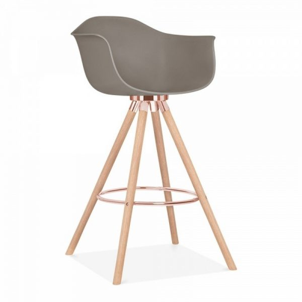 Tidal Bar Chair With Armrest CD2 - Warm Grey