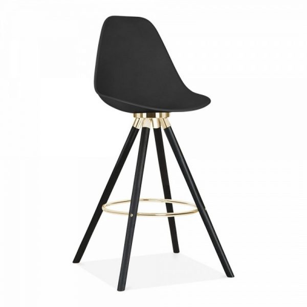 Tidal Fixed Height Bar Chair With Backrest CD2 - Black