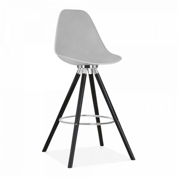 Tidal Fixed Height Bar Chair With Backrest CD2 - Light Grey