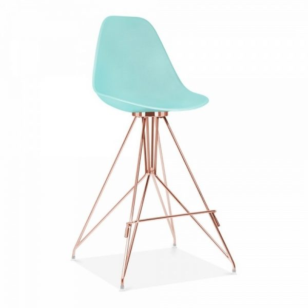 Tidal Fixed Height Bar Chair With Backrest CD1 - Pastel Blue