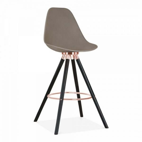 Tidal Fixed Height Bar Chair With Backrest CD2 - Warm Grey