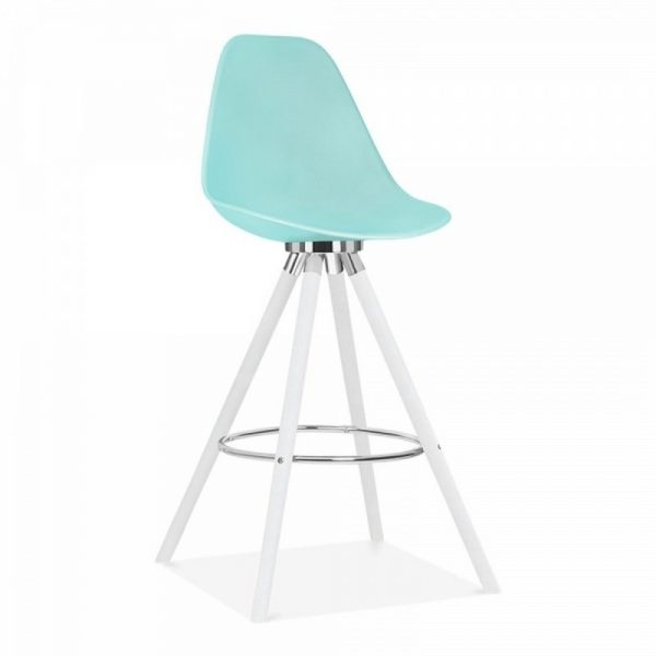 Tidal Fixed Height Bar Chair With Backrest CD2 - Pastel Blue