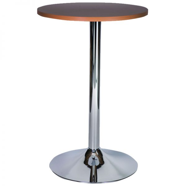 Ramizon Chrome Round Bar Poseur Table - Wenge