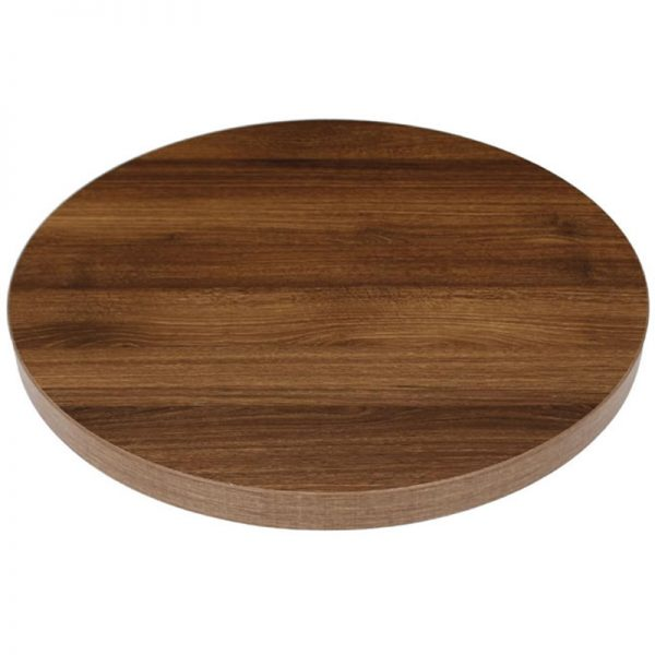 Vason Commercial Thick 60cm Round Table Top - Oak