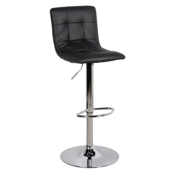 Virgona Adjustable Kitchen Bar Stool - Black