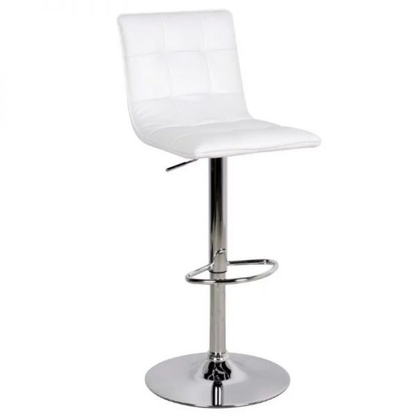 Virgona Adjustable Kitchen Bar Stool - White
