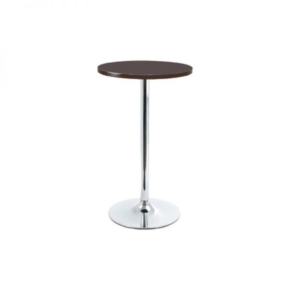 Bonetti Wood Poseur Tall Round Bar Table - Walnut