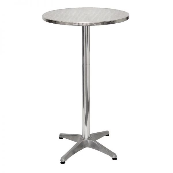 Sparrow Round Poseur Table - Stainless Steel