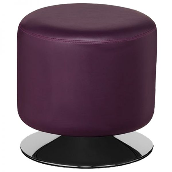 Cyclone Faux Leather Chrome Bar Stool - Purple