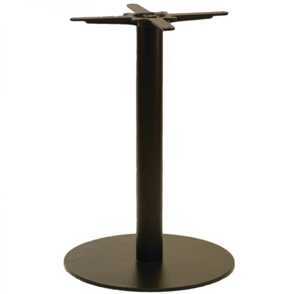Gorzan Medium/Large Round Cast Iron Bar Fixed Floor Commercial Table Base - 73cm