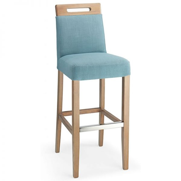 Modosi Fabric and Wood Dining Chair - Teal
