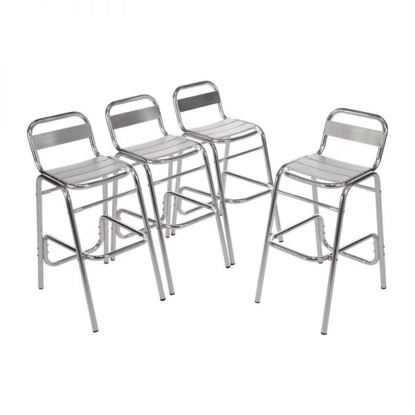 4 x Sparrow Aluminium Kitchen Bar Stool