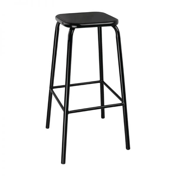 4 x Sparrow Metal Bar Stool - Black