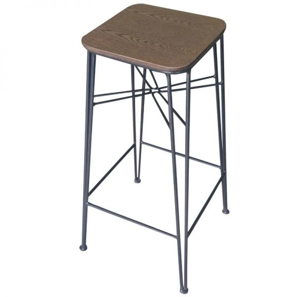 2 x Sparrow High Metal Bar Stool