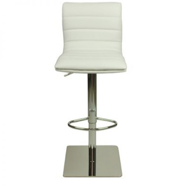 Deluxe Weighted Majorca Bar Stool - White