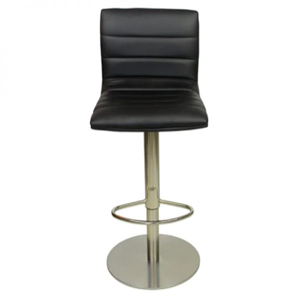 Deluxe Weighted Brushed Majorca Bar Stool - Black
