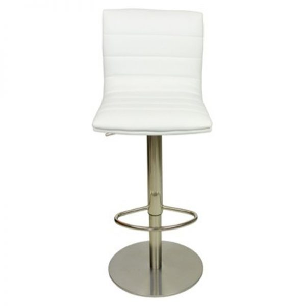 Deluxe Weighted Brushed Majorca Bar Stool - White