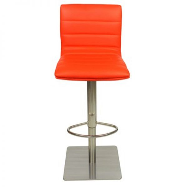 Deluxe Weighted Brushed Majorca Bar Stool - Orange