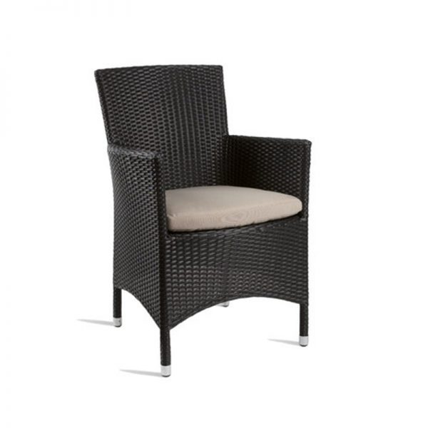 Tazimo PE Wicker Comfort Kitchen Bar Stool - Black