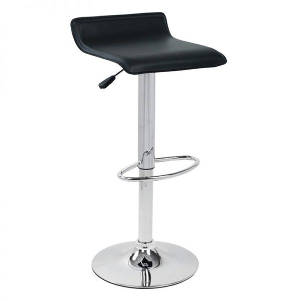 Baconey Adjustable Padded Breakfast Bar Stool - Black
