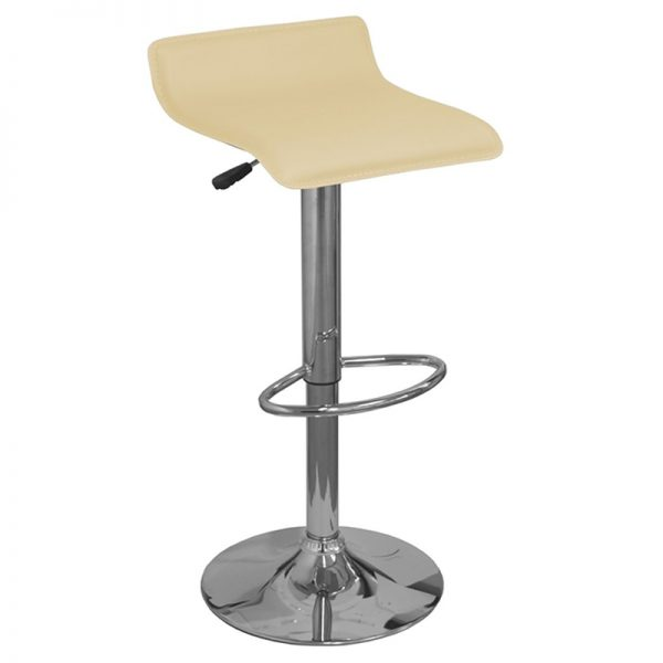 Baconey Adjustable Padded Breakfast Bar Stool - Cream
