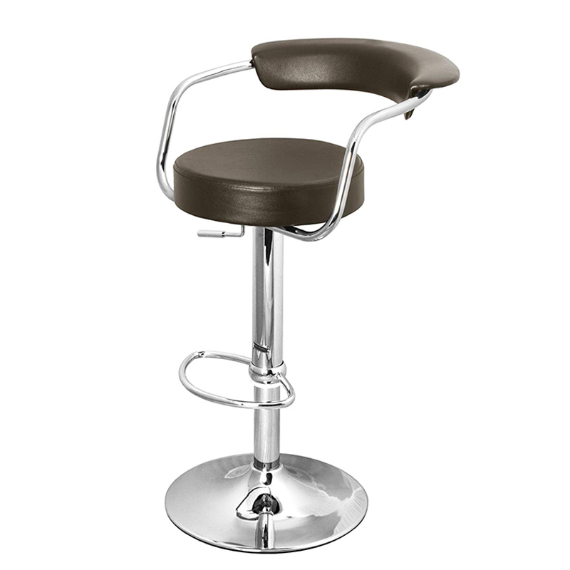 Berty Cushioned Adjustable Bar Stool - Brown