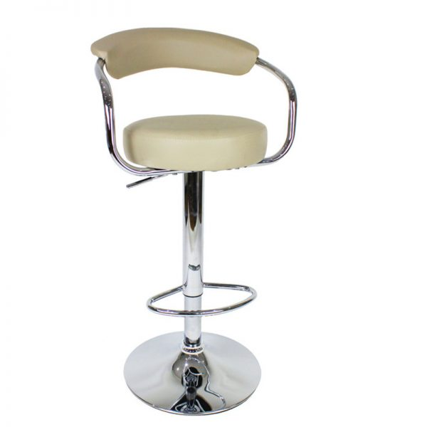 Berty Cushioned Adjustable Bar Stool - Cream