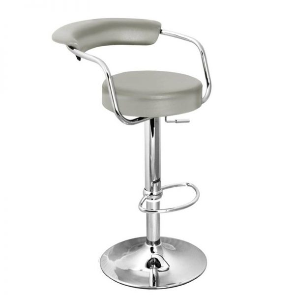 Berty Cushioned Adjustable Bar Stool - Grey